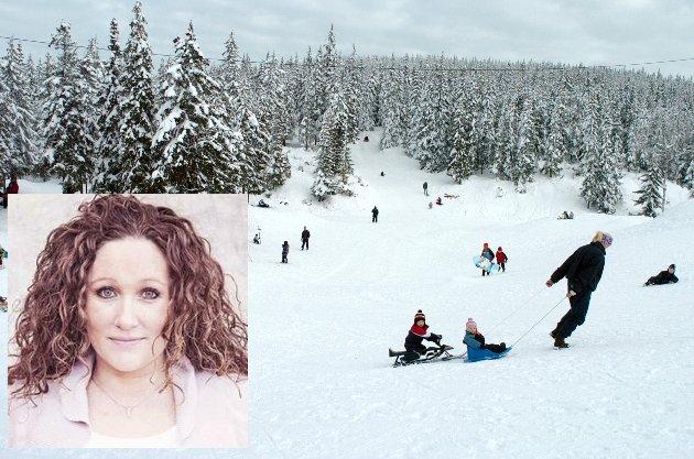 Ringkollstua stengt i vinterferie uka ski sne vinter aking