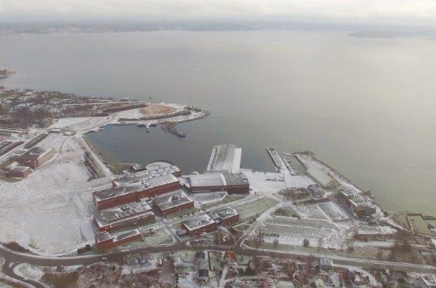 Industritomta på Tofte i vinterdrakt