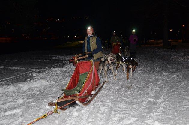 Strandefjorden: Hundekjører Julie Sletten Langeland fra Bodø er elev ved Valdres folkehøgskole.