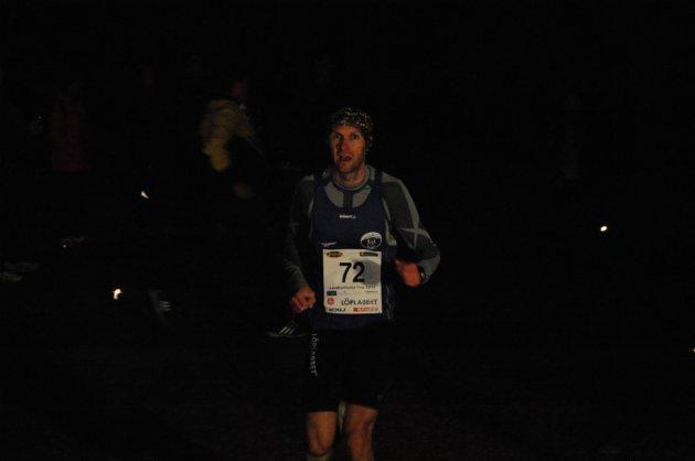 Først: Øystein Mørk fra SK Kraft var førstemann til toppen.