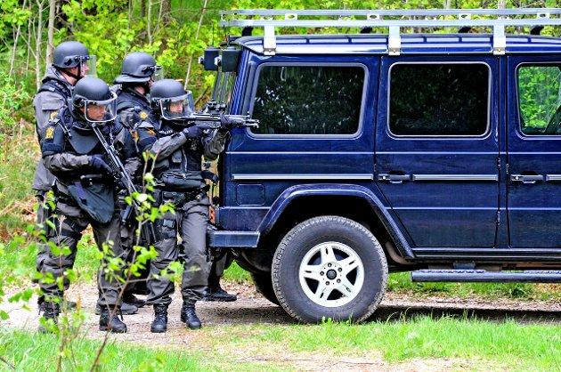 «En sjeldenhet»: Øvelse Oslofjord mellom HV og politiet i 2011.Arkivfoto: GEir A. Carlsson