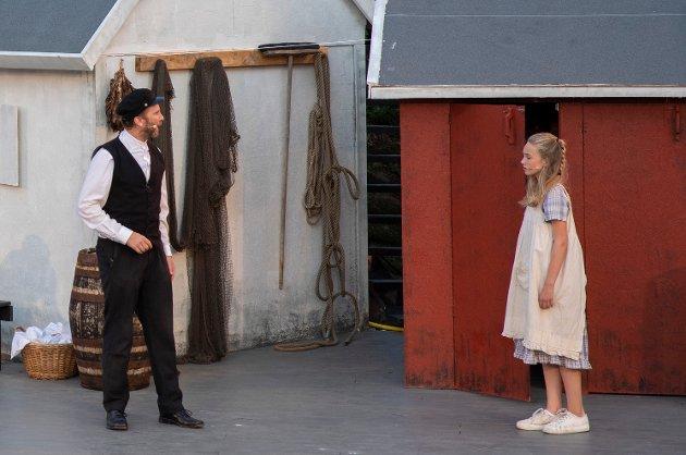 Far og datter: Erik-André Hvidsten spiller en far med problemer, men Johanne Pettersen er datteren som hjelper sitt opphav.