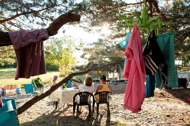 Camping på Storesand. Illustrasjonsfoto