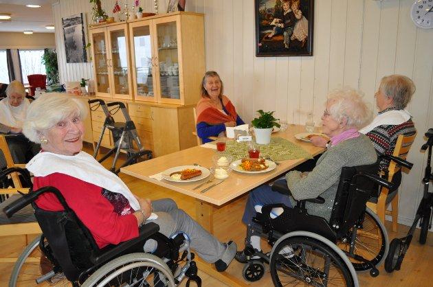 POSITIV ENDRING: 1. februar blir det endring i måltidsrytmen på sykehjemmene i Gran kommune.