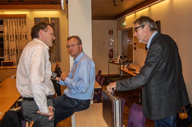 UENIGE: Pål-Arne Oulie (Sp) og duoen Morten Hagen/Øyvind Kvernvold Myhre (GBL) fotografert i oktober. De er fortsatt ikke enige om sykehjemsprosjektet i Gran.