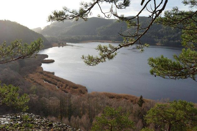 BILDE 1: Berbyelvas ende og Iddefjordens begynnelse