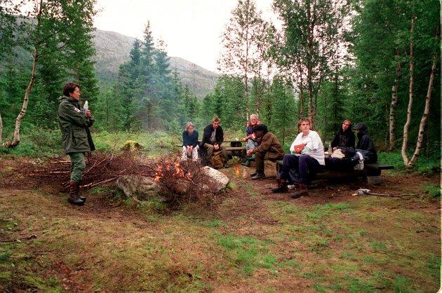 Sjøbergmarsjen 2001. Bålkos i Eiterådalen