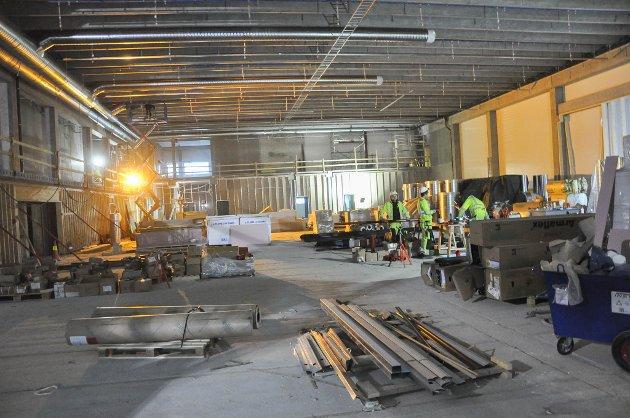 Slik ser den nye håndballhallen i tilknytning til Finnmarkshallen ut i dag.