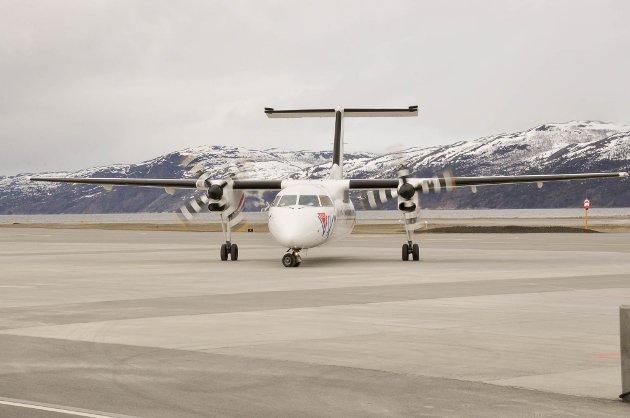 Ola Giæver gjorde et ærlig forsøk på å utfordre monopolet, skriver artikkelforfatteren. Fly Viking-maskin er her avbildet på Alta lufthavn.