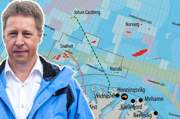 Harald Knudsen vil ha driftsorganisasjonen til Finnmark. (Montasje)