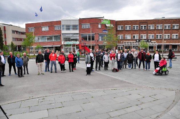 KAN SØKE SØROVER: Alta kan søke sørover. Her fra protestaksjonen til ForFinnmark i Alta sentrum denne uken.