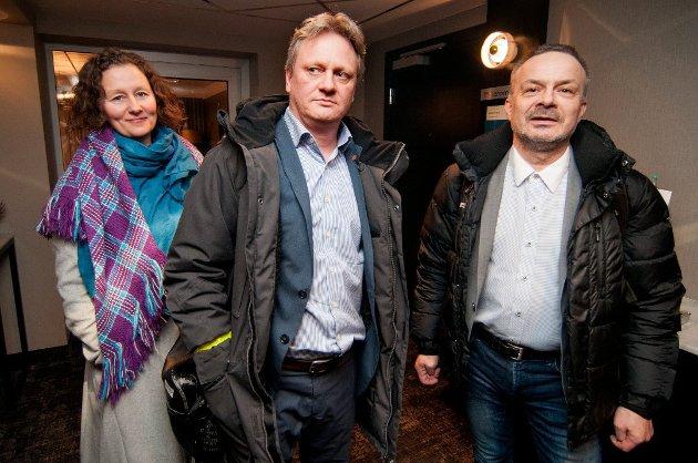 KJEMPET HARDT: Ivar B. Prestbakmo var sentral i forhandlingene mellom Troms og Finnmark, og kjempet Troms sin kamp side om side med Willy Ørnebakk. Her sammen med Tromsø-ordfører Kristin Røymo.