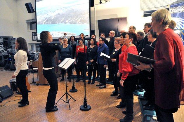 PORSANGERNE: Illustrasjonsbilder er tatt i år 2014 i forbindelse med at Porsangerne feiret sitt 25-års jubileum lørdag med konsert i kantina på Lakselv videregående skole.