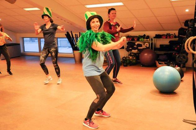 God trening: Inger Marie Hagen koser seg på trening.