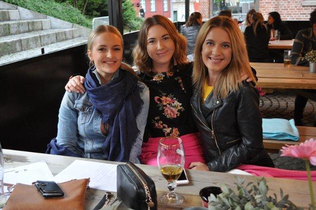 Sarha, Susanne og Cecilie synes quizen gikk greit