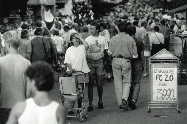 Mossedagene i gågata, juni 1992.