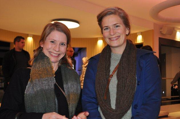 Ingeborg Øyen Thorsland og Hulda Mørk gledet seg til å se Seltzer og Bergesen på scenen.