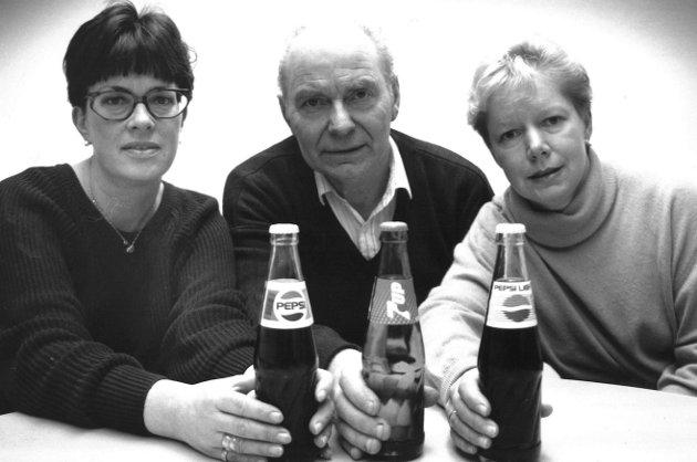 Moss Bryggeri. Kari Magnussen, Thorleif Tasken og Helen Asting, 1991.