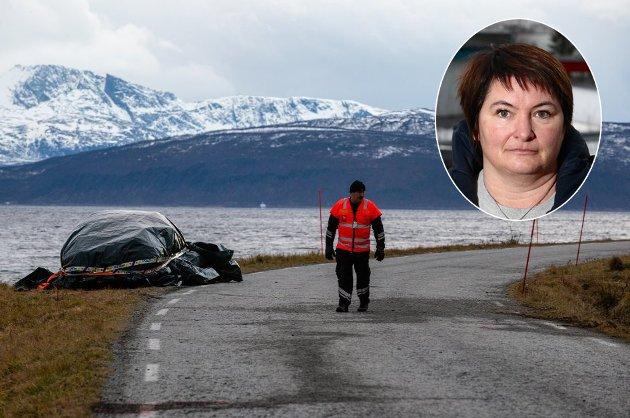 DØDSULYKKE: En person omkom etter en ulykke på Vannøya lørdag. Karlsøy-ordfører Mona Pedersen oppfordrer nå alle til å ta vare på hverandre.