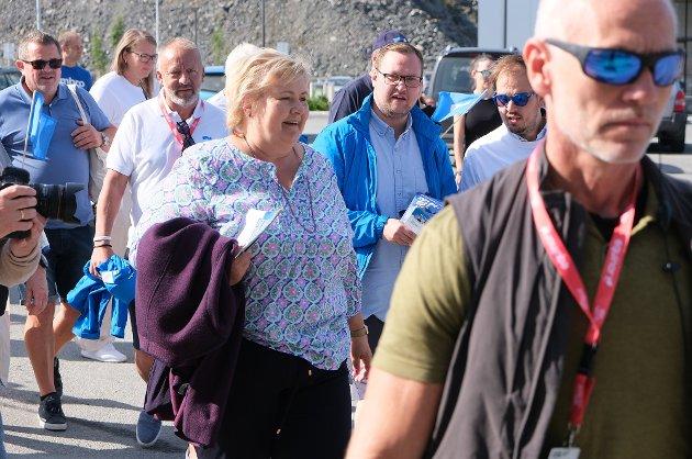 Jeg håper at statsministeren tar det hun selv sier alvorlig, skriver Raymond Lillevik etter Ernas Solbergs uttalelser under et valgkamparrangement på Finnsnes nylig (bildet).