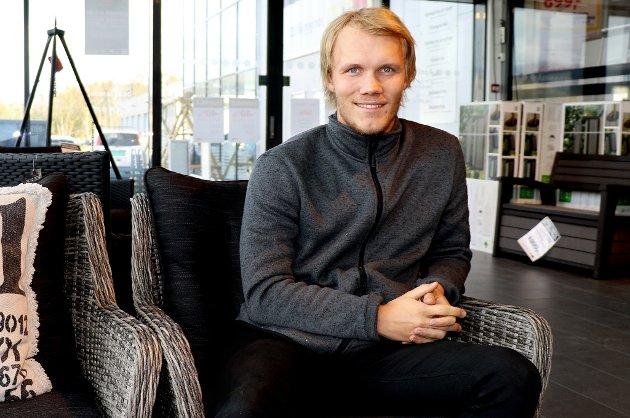 JERNMANN: Til daglig er Andreas Fiva er avdelingsleder for jernvarer ved Montér i Tromsø.