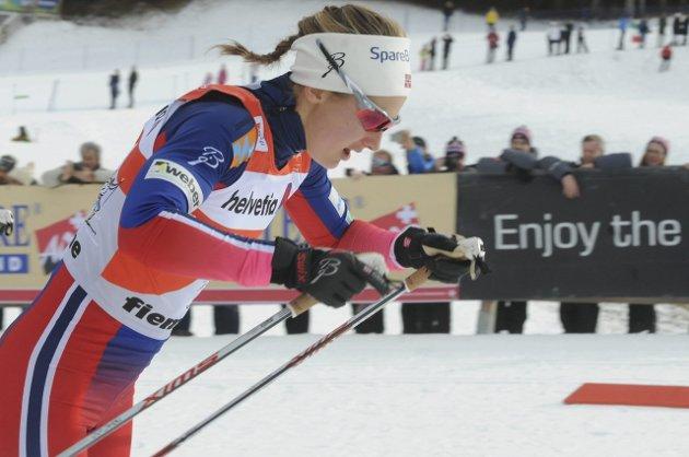 Ingvild Flugstad Østberg i Tour de ski lørdag.