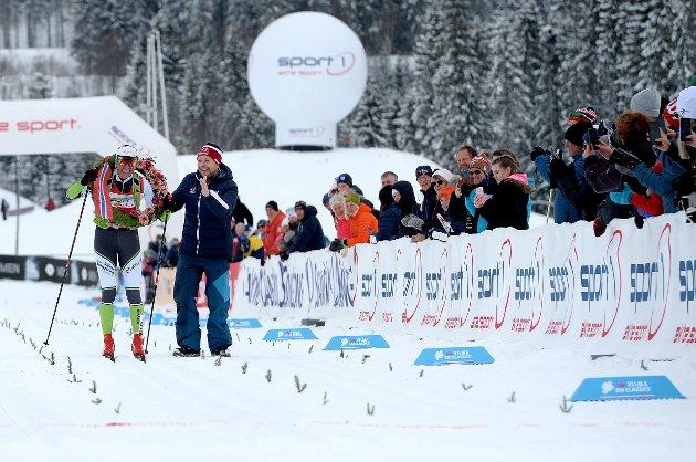 VINNEREN: Petter Eliassen fra Team BN Bank vant hele Birkebeinerrennet 2019. Han gikk i mål på tiden 02.23,47. Han gikk i klassen menn elite. Eliassen har rekorden i Birkebeinerrennet 02.19,28 fra da han vant i 2015.