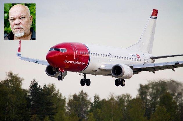 Sven Henriksen (innfelt) skriver om å fly.