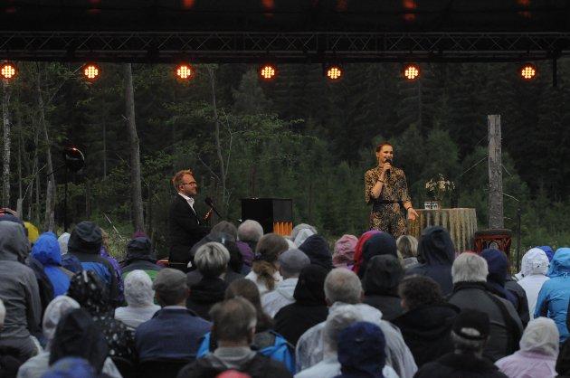 HARMONISK EKTEPAR: Sigvart Dagsland og Karoline Krüger holdt konsert ved Prøysenstua.