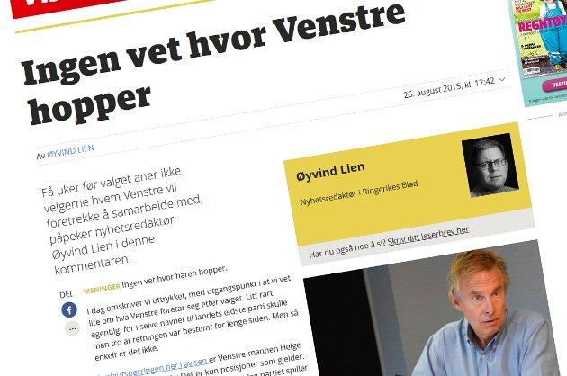 Øyvind Lien får svar fra Helge Stiksrud.