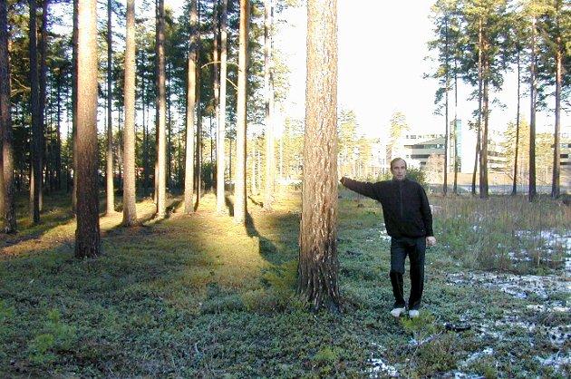 Aage Thoresen har utviklet Hvervenmoen fra skog til aktivt næringsliv. Bildet er fra 2005.