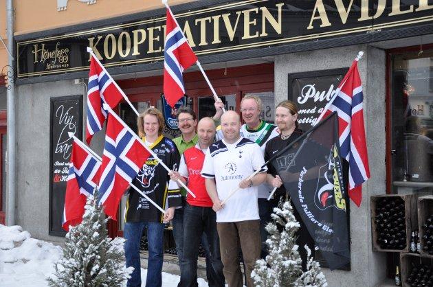 Kooperativen avdeling nordsiden De ansatte: Petter Hansen, Rolf Fugleberg, Tom Arild Johansen, Tor Simen Granum, Terje andersen og jon Robert Solbakken. Kjell-Erik Andersen var ikke tilstede da bildet ble tatt.