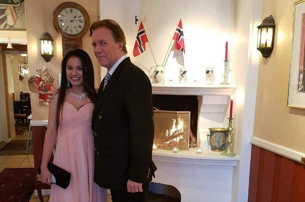 5. januar 2018 ble en stor dag for Martin Pedersen, da han endelig fikk gifte seg med 44 år yngre Ivy, som er fra Filippinene. Nå vil de søke om familiegjenforening. Foto: Privat