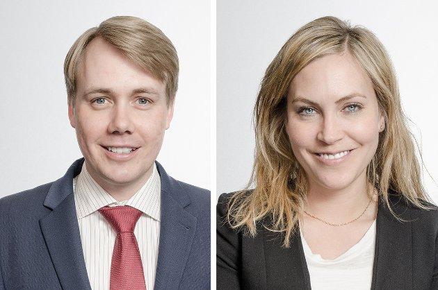 Caroline Jahre Viksand, partner/advokat, og Audun Samnøen, senioradvokat – Tenden Advokatfirma ANS.