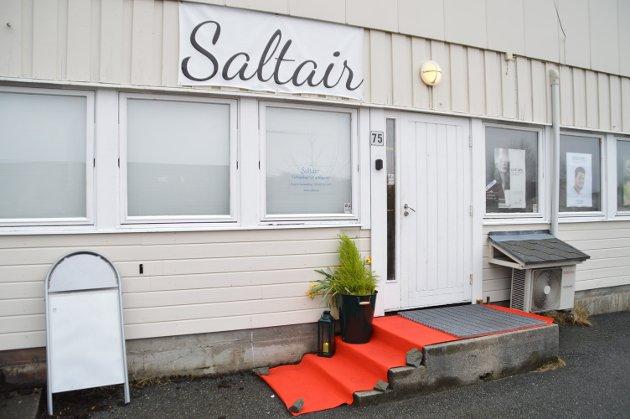 Slik ser lokalet til Saltair og Optimal Hudpleie ut frå yttersida.