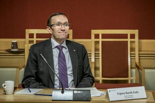 Espen Barth Eide er Aps klimapolitiske talsperson og klimaproblem. FOTO: NTB