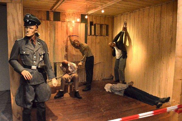Stiftelsen la ikke skjul på historien i denne utstillingen for noen år siden. FOTO: TOM R. HJERTHOLM