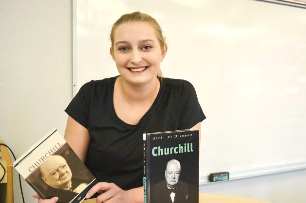 Sterk tale: Ingrid Vang Gulliksen Bråthen har i sin fordypningsoppgave i norsk tatt for seg en tale av Winston Churchill. «Han var ikke soldat eller løytnant, men han inspirerte folket med det enkleste middel – nemlig språk», skriver hun.