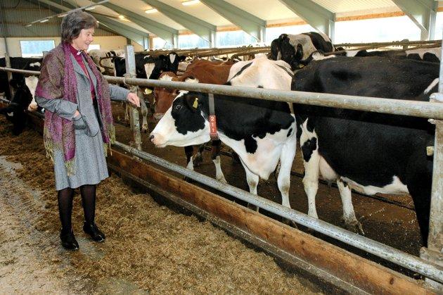 Vi åpner gårdene våre for å vise frem det vi er stolte av, skriver Lise Thorsø Mohr. Bildet viser daværende biskop Helga Haugland Byfuglien på besøk i 2008.