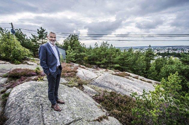 Vil endre: Regiondirektør Steinar Frølandshagen i OBOS synes Begbyåsen er bedre enn Haugstenåsen.