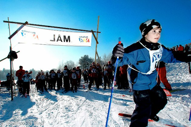 Barneskirenn ved Skontorp bedehus i Engelsviken: Kristian Hansen i fint driv i løypa. Foto: Bjørn Frostad, 12.02.2006