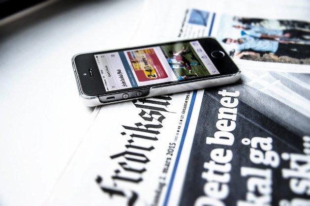 Eksplosjonen i konsumering av lokale nyheter og direktesendt sport på mobiltelefoner er sterkt medvirkende til at Fredriksstad Blad ser fortsatt kraftig økning i opplagstallene.