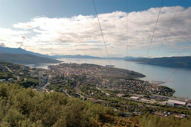 Narvik, oversiktsfoto, sommerfoto
