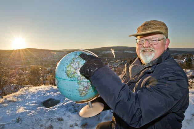 STOLT: Arne Huse er bypatriot og stolt av Kongsvinger, men vil ikke ha noe med Grue å gjøre.