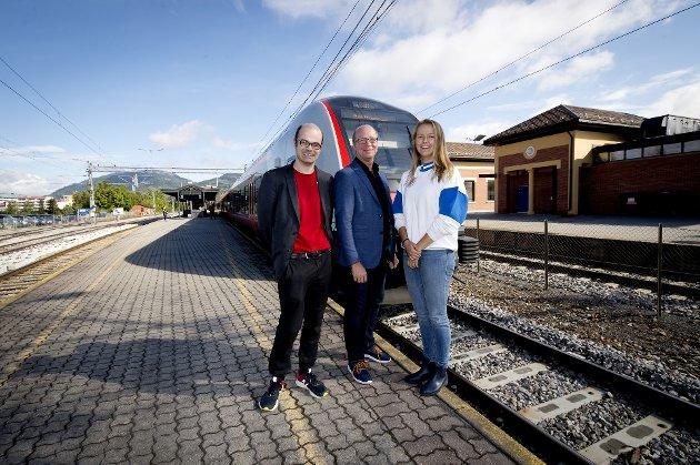 ALLE VIL TIL OSLO: SVs Hans Olav Lahlum (f.v.), Venstres Ketil Kjenseth og MDGs Ingvild Kessel håper alle å få utjevningsmandatet i Oppland.
