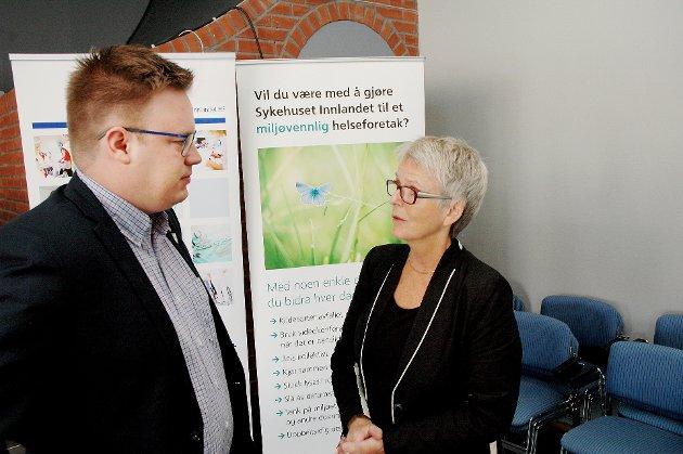 DISTRIKT: Spesialisttilbud på Otta er IKKE under utvikling. Hvordan forsvarer styreleder Anne Enger og fylkesordfører Even A. Hagen (Ap) det?