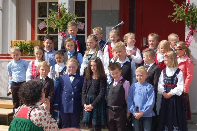 FREDHEIM: 17. mai-feiring på Fredheim.