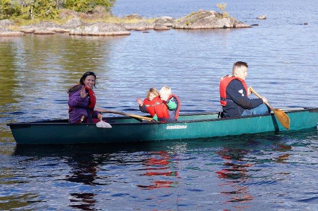 Det var flotte forhold for kanopadling.