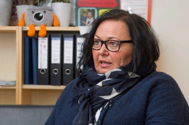 Bente Helle Quanfouh, leder i Fagforbundet Halden og Aremark.