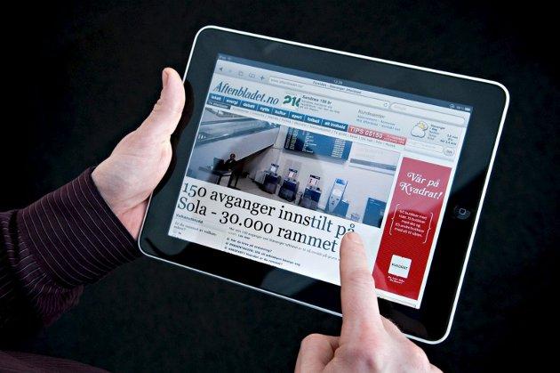FLERE OG FLERE: Vi får stadig flere digitale lesere. Det er nå godt under 1.000 abonnenter som kun leser HA på papir.